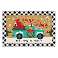 Personalized Home for Christmas Doormat