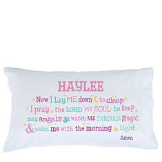 Personalized Now I Lay Me Down Pillowcase