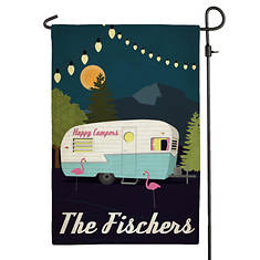 Personalized Happy Camping Garden Flag