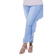 Asymmetric Ruffle Jean