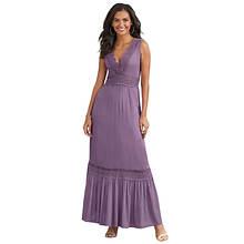 Crochet-Trim Gauze Maxi Dress