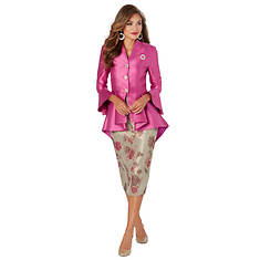 High-Low Peplum Suit Set