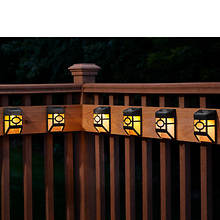 6-Pack Solar Deck/Fence Lights