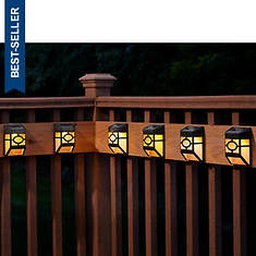 6-Pack Solar Deck/Fence Lights