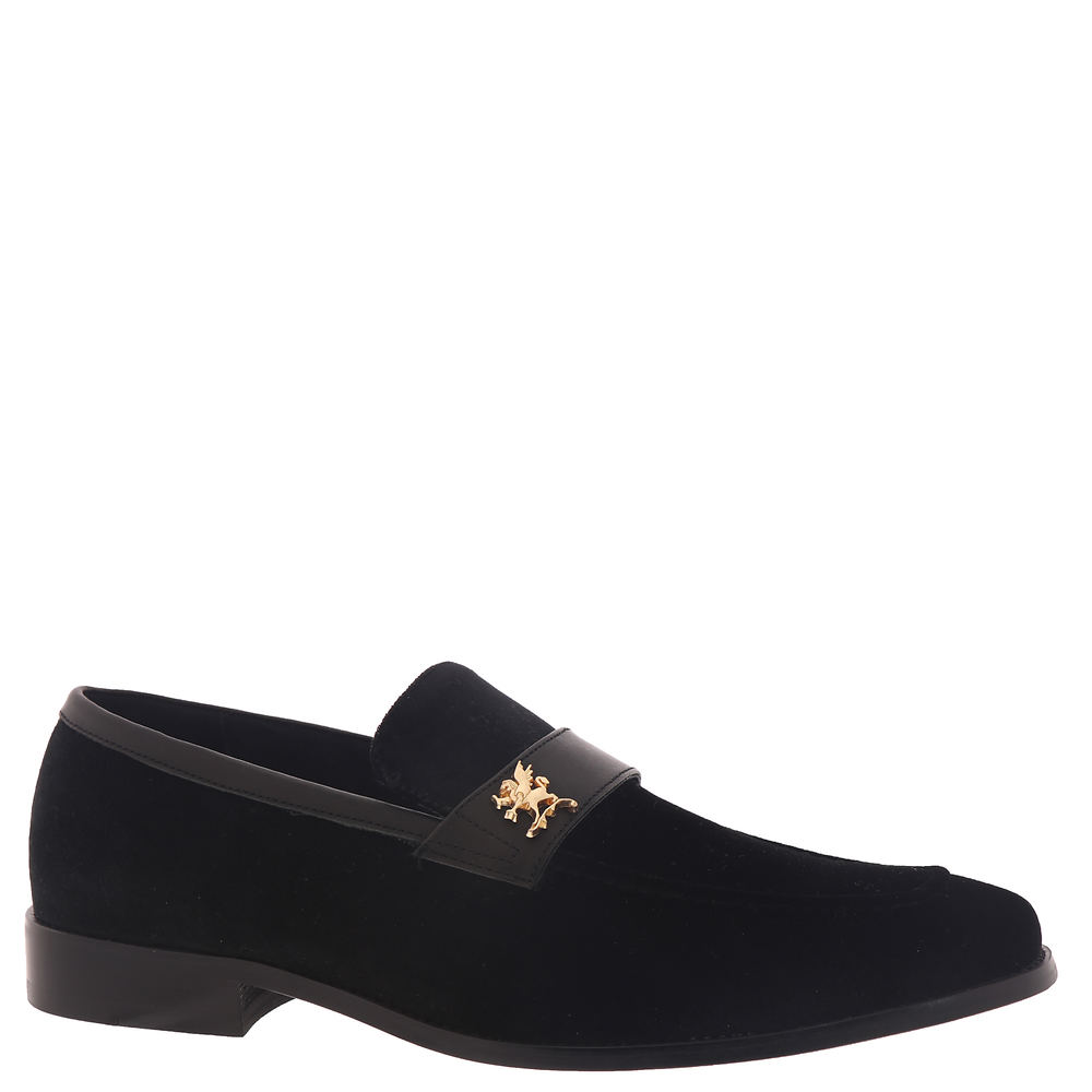 *Leather and velour fabric upper with moc toe detail *Slip-on style *Leather lining *Cushioned Memory Foam footbed