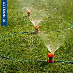 18' Portable Hose With In-Line Sprinkler Heads