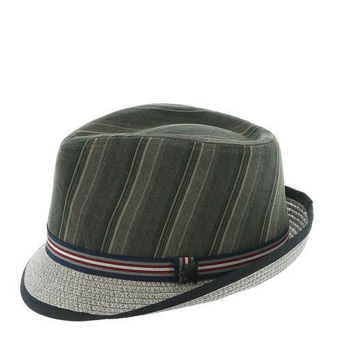 Polyester Stripe Fedora