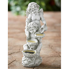 Solar Cherub Lighted Statuary