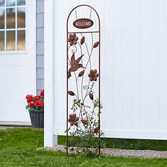 """60"""" Rustic Trellis Welcome Sign"""