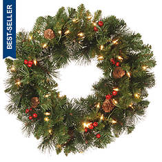 20'' Crestwood Wreath with Lights