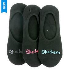 Skechers Women's S109963 Liner 3 Pack Socks