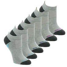 Skechers Women's S112085 Low Cut 6 Pack Socks