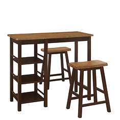 Tampa 3-Piece Bar-Height Table and Stools