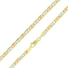 """14K Tri-Color 7"""" Valentino Bracelet"""
