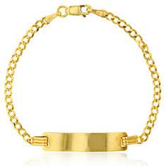 """14K Cuban 6"""" ID Bracelet"""