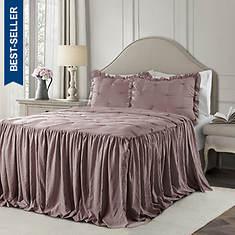 Lush Décor Ravello Pintuck Bedspread Set