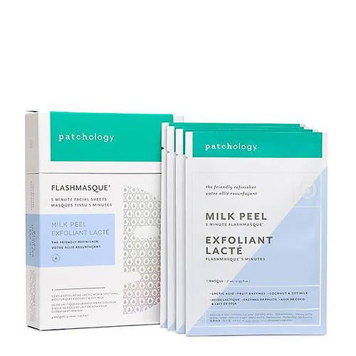 Patchology FlashMasque Milk Peel 5-Minute Sheet Mask 4-Pack