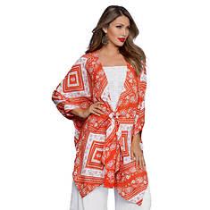 Knot-Front Kimono Top