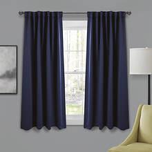 Lush Décor Insulated Blackout Back Tab Curtains