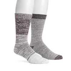 MUK LUKS Men's 2-Pair Fluffy Yarn Boot Socks