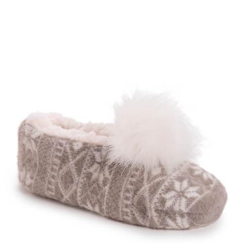MUK LUKS Pom Ballerina Slippers (Women's)