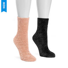 MUK LUKS Women's 2 Pair Chenille Boot Socks
