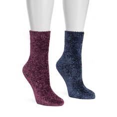 MUK LUKS Women's 2 Pair Chenille Boot Socks