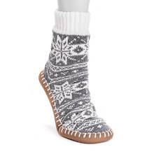 MUK LUKS Women's Chenille Short Slipper Socks