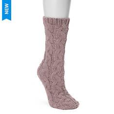 MUK LUKS Women's Mid Chunky Cable Chenille Socks