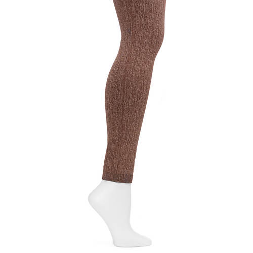 MUK LUKS Women's Fleece Lined Faux Denim Leggings