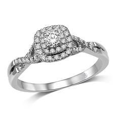 14K Twist Engagement Ring 1/3 ct. tw.