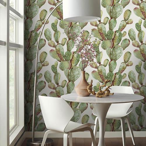Prickly Cactus Peel and Stick Wallpaper