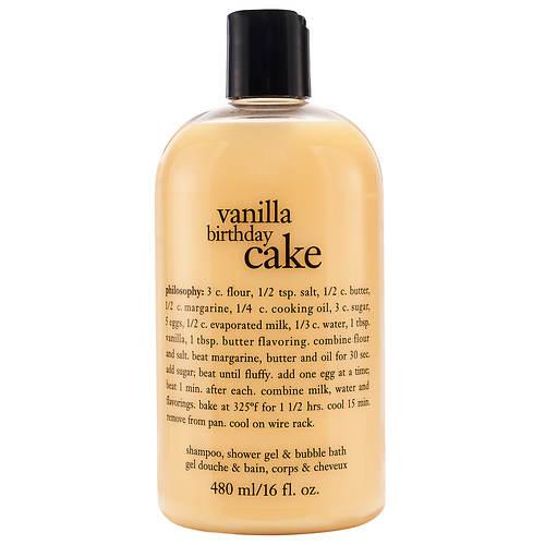 Philosophy Vanilla Birthday Cake Shampoo, Shower Gel and Bubble Bath