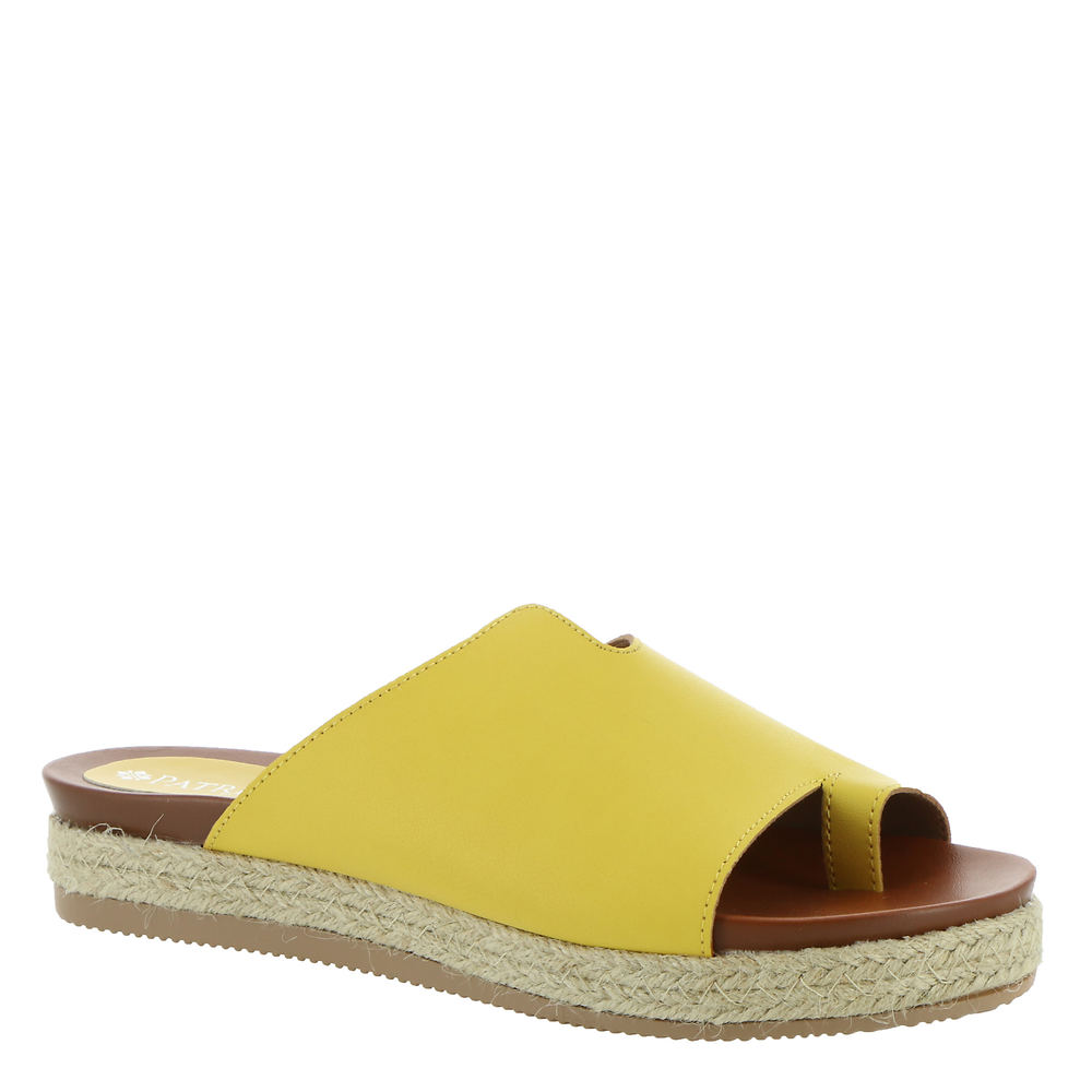 *Hooded faux leather upper with toe loop *Slip-on style *Lightly cushioned footbed *Espadrille jute-wrapped midsole *Durable man-made outsole *1-1/4\\\