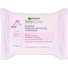 Garnier Skinactive 25-Count Micellar Makeup Remover Towelettes