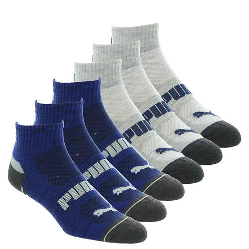 PUMA Men's P113925 Quarter 6-Pack Socks