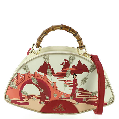 Loungefly Mulan Bamboo Handle Fan Handbag