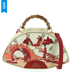 Loungefly Mulan Bamboo Handle Fan Handbag