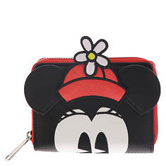 Loungefly Positively Minnie Polka Dot Zip Around Wallet