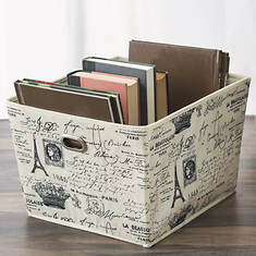 Home Basic Paris Large Storage Bin