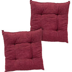 Chenille Chair Pad - 2 Pack