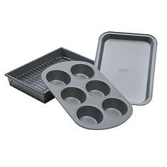 Chicago Metallic Toaster Oven Bakeware Set, 4PC