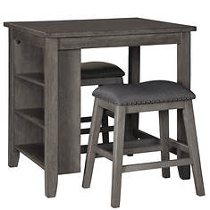 Signature Design By Ashley Caitbrook Rectangular Counter-Height Dining Room Table & Barstools