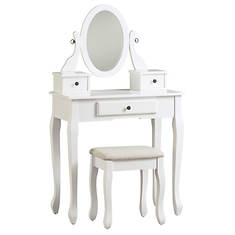 Signature Design By Ashley Vanity  Mirror & Stool Set