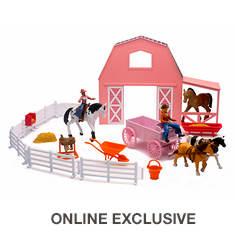 Valley Ranch Pink Barn Horse Set