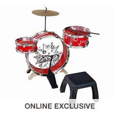 Kiddy Jazz Drum Set with Stool