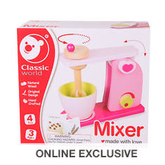 Wooden Toy Mixer