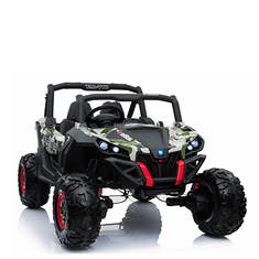 12V Camo Two-Seat Battery-Operated Wild UTV Car