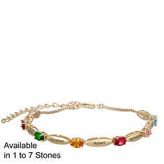 Mother's Name/Birthstone Bracelet