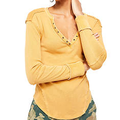 Free People Women's Military Mix Henley